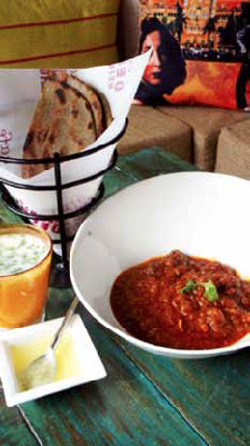CLASSIC COMBO: The delectable Laal Maas is served with Bajra Roti